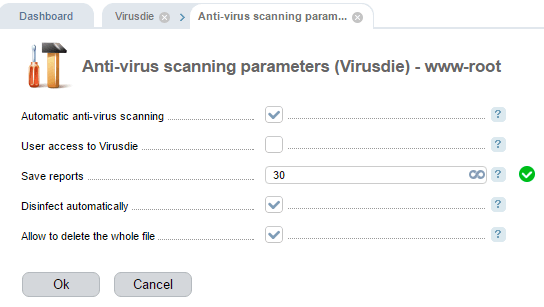 Virusdie Parameters